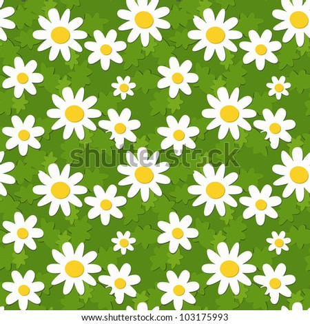 seamless summer floral ornament, applique imitation