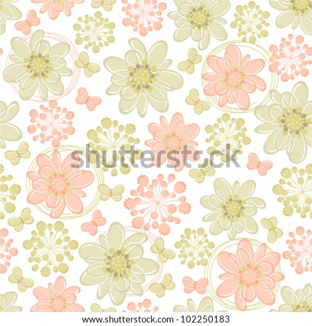Seamless summer floral pattern