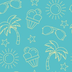 seamless summer pattern background
