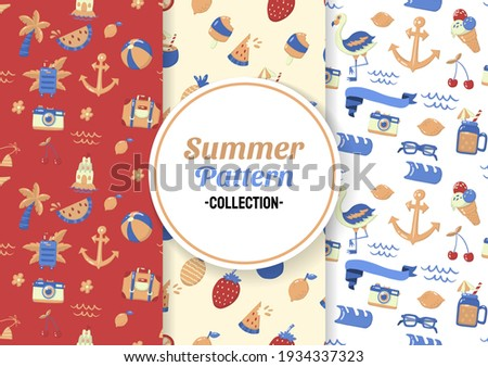 Seamless Summer Pattern Vector for banner, poster, flyer