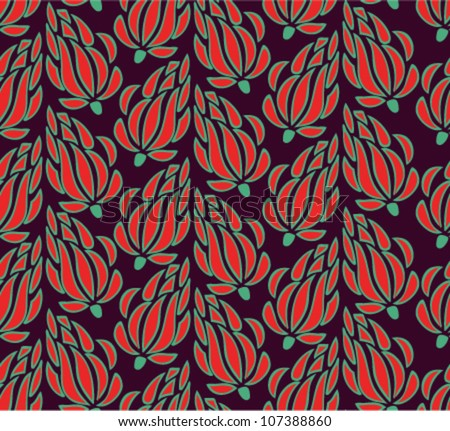 Seamless summer texture with flowers. Endless floral pattern. Seamless pattern can be used for wallpaper, pattern fills, web page background, surface textures. Gorgeous floral background