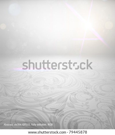 Seamless summer wallpaper, vector background for design. Free place for text.