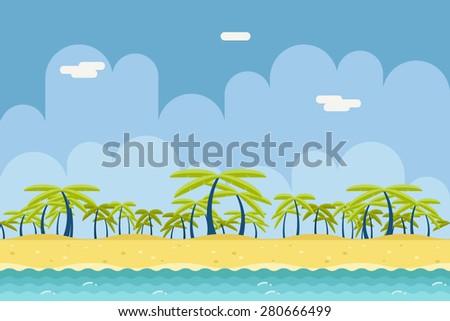 seamless sunny beach ocean sea