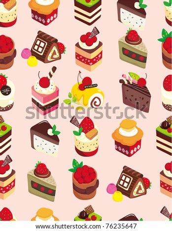 seamless sweet cake pattern