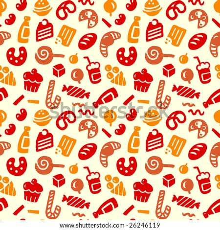 Seamless sweets pattern.