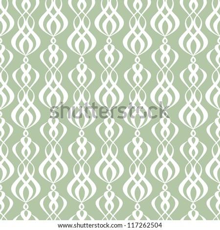 Seamless symmetric wallpaper pattern - stock vector