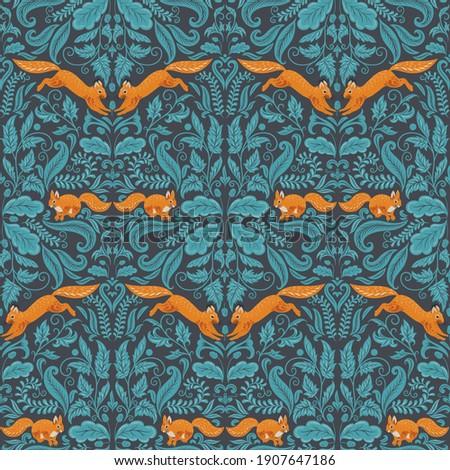 seamless symmetrical pattern in