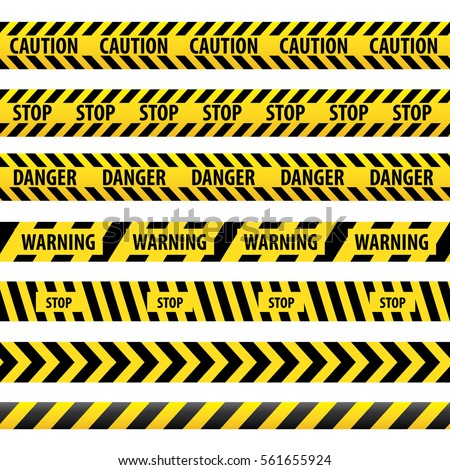 seamless tape caution  danger....