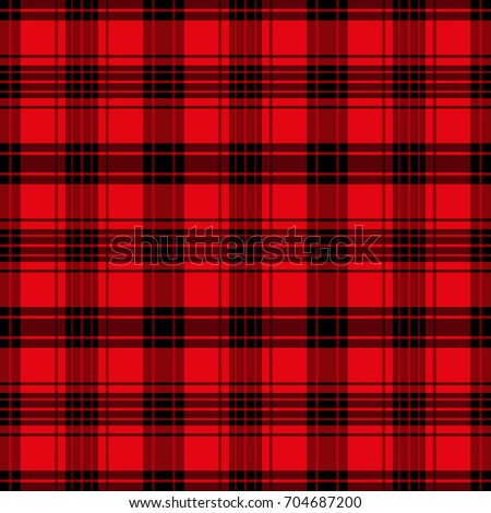 Seamless tartan pattern.  Checkered red texture for clothing fabric prints and home textile.