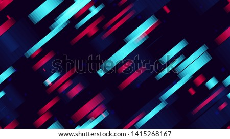 Seamless Tech Background Of Neon Speed Lines. Futuristic Dynamic Texture. Fast Movement Sporty Pattern. Digital Cover Background.