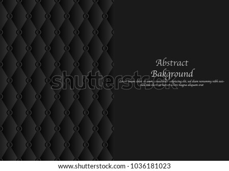 Seamless texture background.Black leather sofa.Abstract Background.
