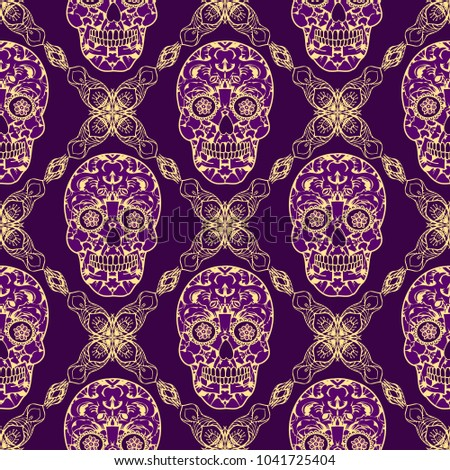 seamless texture endless pattern tribal style colorful simplified
