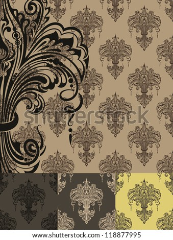 Seamless texture in Victorian style