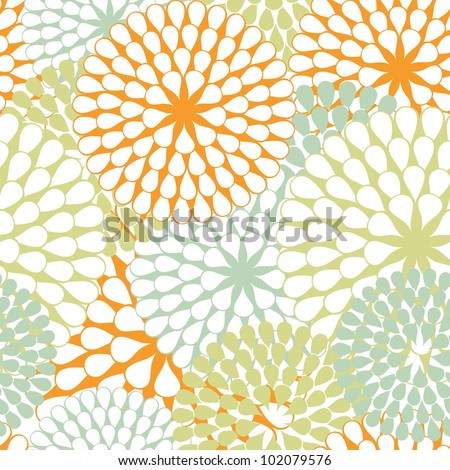 Seamless texture of abstract flowers. Vector illustration.