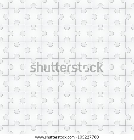 Seamless texture of puzzle. Illustration for design on white background