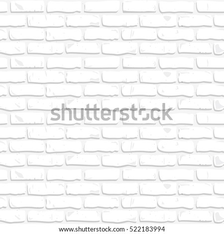 Seamless texture of white brick wall. Vector 8.