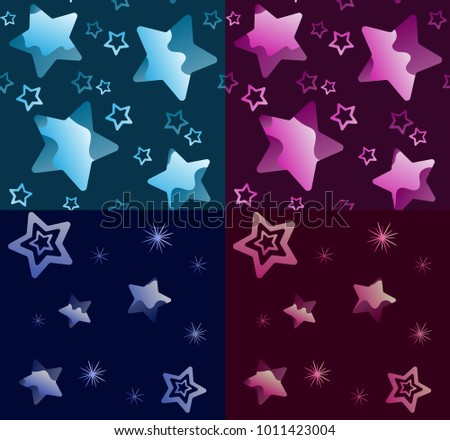 Purple background with stars seamless pattern download free vector seamless texture star pattern in the night sky set on a blue and purple background voltagebd Gallery