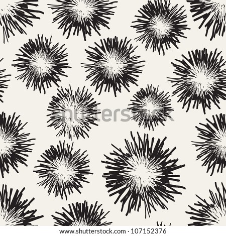 seamless texture with a feather - stock vector