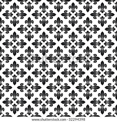 Seamless texture with fleur-de-lis - stock vector
