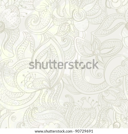 Seamless texture with flowers. Endless floral pattern.  Background with flowers  grunge texture