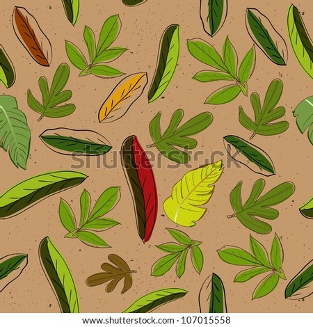 Seamless texture with leaves. Vector illustration EPS8