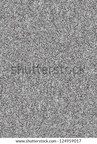Seamless texture with noise effect television grainy for background. Black and white A4 template in vertical format. TV screen no signal. Vector illustration clip-art design element saved in 8 eps