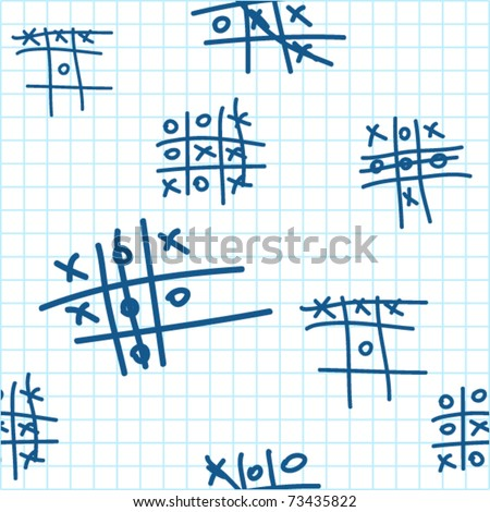 Seamless texture with tic-tac-toe. Vector.