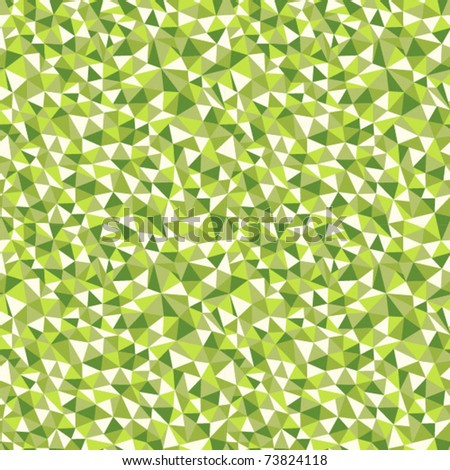 Seamless texture with triangles, mosaic endless pattern in green