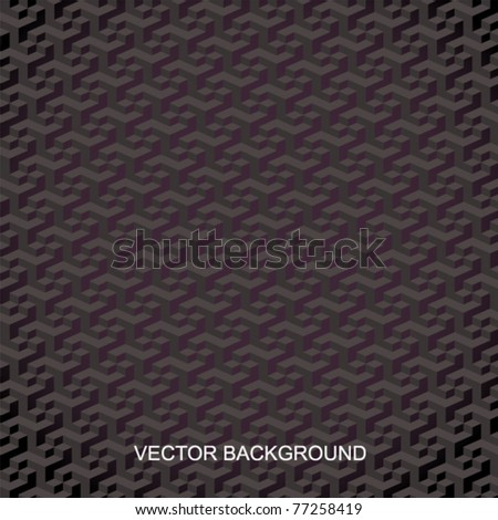 seamless tilable 3d isometric cube pattern - stock vector