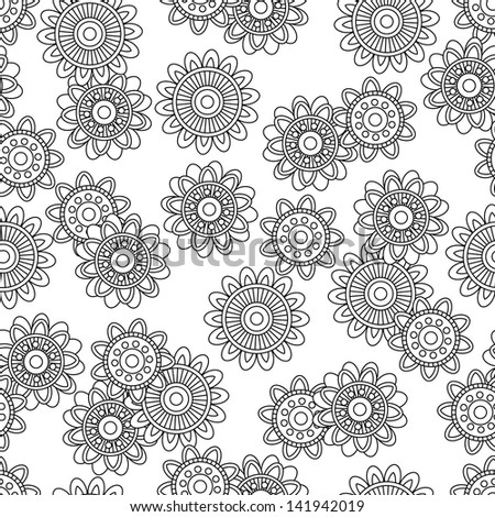 Seamless Tileable Doodle Vector Background
