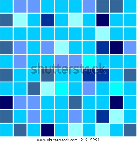 Seamless Tiles Background Different Shades Of Blue Colour Stock