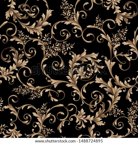 seamless traditional baroque pattern. classic pattern for textile design and fabrics Photo stock ©