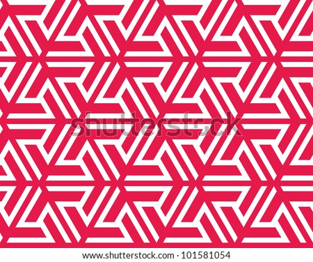 Seamless traditional geometrical islamic triangle ornament, vector texture