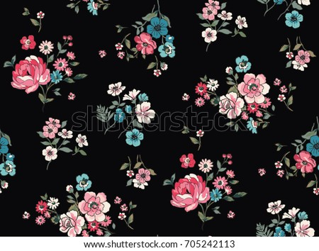 seamless trendy floral pattern
