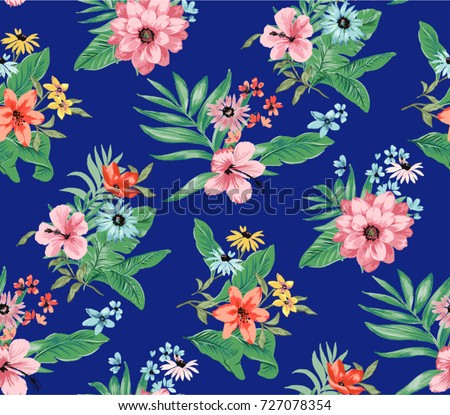 Seamless Trendy Tropical Pattern