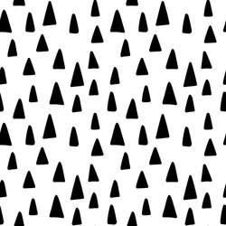 Seamless triangle tree pattern