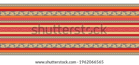 Seamless tribal border design with geometrical shapes