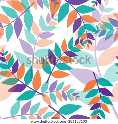 seamless trichromatic floral