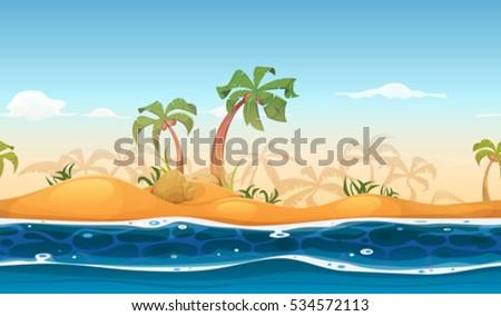 seamless tropical beach