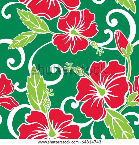 Seamless Tropical Holiday Pattern - stock vector