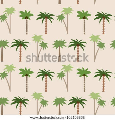 Seamless tropical pattern with palms #1