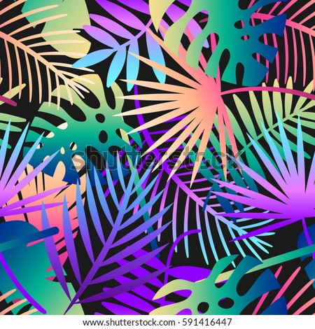 seamless tropical vector