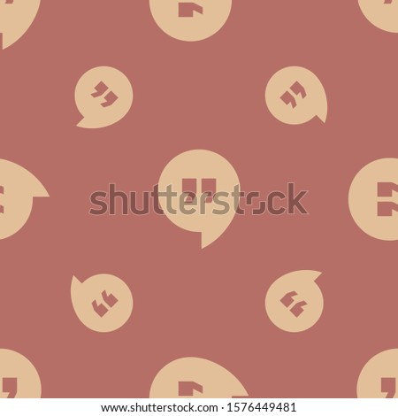 Seamless two color burly wood google hangouts logo flat pattern on indian red background.