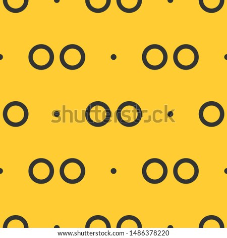Seamless two color dark slate gray flickr logo flat pattern on sandy brown background.