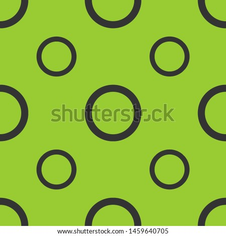 Seamless two color dark slate gray radio button unchecked flat pattern on yellow green background.