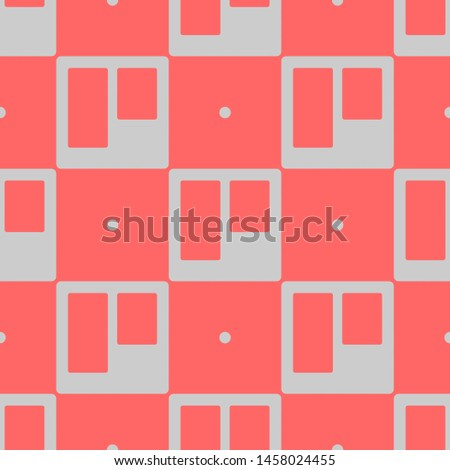 Seamless two color gainsboro trello website logo flat pattern on coral background.