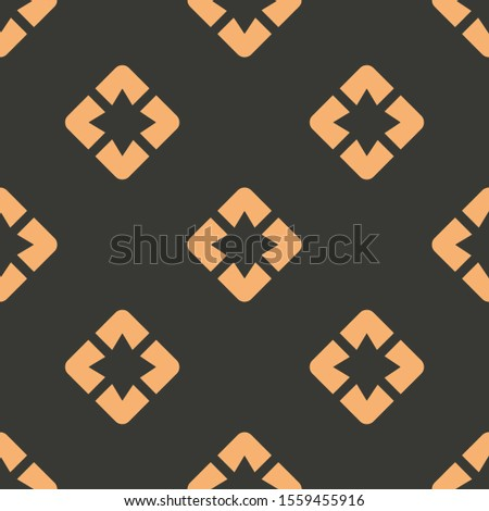 Seamless two color light salmon pages google plus flat pattern on dark slate gray background.