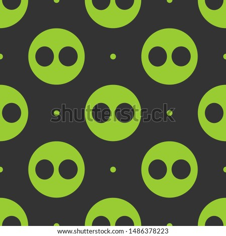 Seamless two color yellow green flickr logo flat pattern on dark slate gray background.
