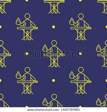 seamless two color yellow man