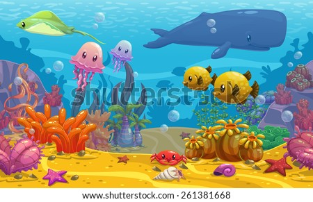 seamless underwater cartoon